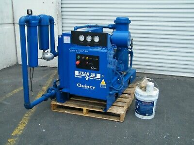 2011 Quincy Qslp-20 20 Hp Low Pressure Rotary Screw Air Compressor Kaeser 172cfm