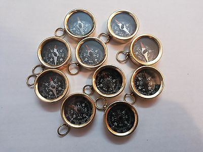 "Brass Vintage Compass 1"" Lot Of 25 Pcs Marine Collectible Decorative"