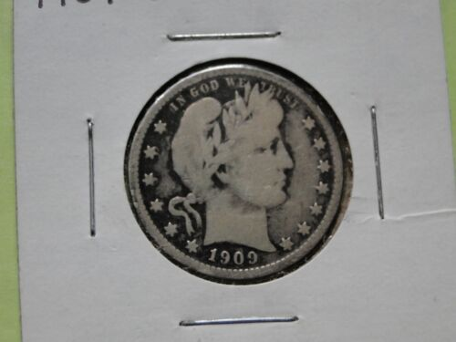 BETTER DATE 1909-o Barber Quarter, Very Good++ details, CLEARANCE