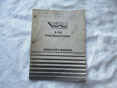 White 2-110 Field Boss Tractor Operators Manual