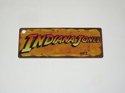 Indiana Jones Pinball Promo Plastic Key Chain Rectangle