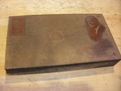 Herbert Hoover Stamp - Historic Iowa Printing Press Block