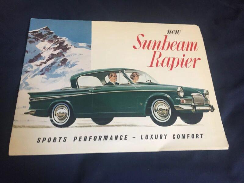 1960s Rootes Sunbeam Rapier Brochure Prospekt