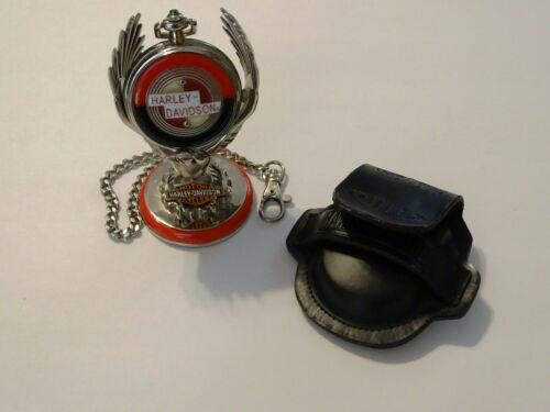 HARLEY DAVIDSON Franklin Mint Pocket Watch SPORTSTER with Stand Chain and Case