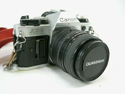 Canon AE-1 Program 35mm Film Camera w/ Quantaray 35-70 f3.5-4.5 MC lens