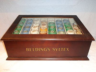 Rare Antique Belding's Syltex General Store Advertising Display Cabinet Case