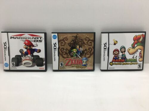3 Nintendo Ds Cases And Manuals No Games Mariokart Zelda Bowsers Inside Story - $15.00