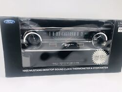 1965 Ford Mustang Desktop Sound Clock Thermostat & Hygrometer Limited Edition