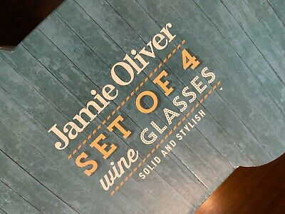 *** STUNNING 4 PACK OF JAMIE OLIVER WINE GLASSES BRAND NEW & BOXED 4 X 45CL ***