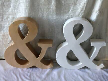 Pair of LARGE 50cm Metal 'Ampersand' / '&' / Letters South Windsor Hawkesbury Area Preview