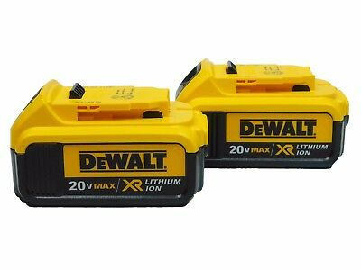 NEW Dewalt DCB204-2 20V 4.0Ah MAX Premium Lithium-Ion Battery (2-Pack) Batteries