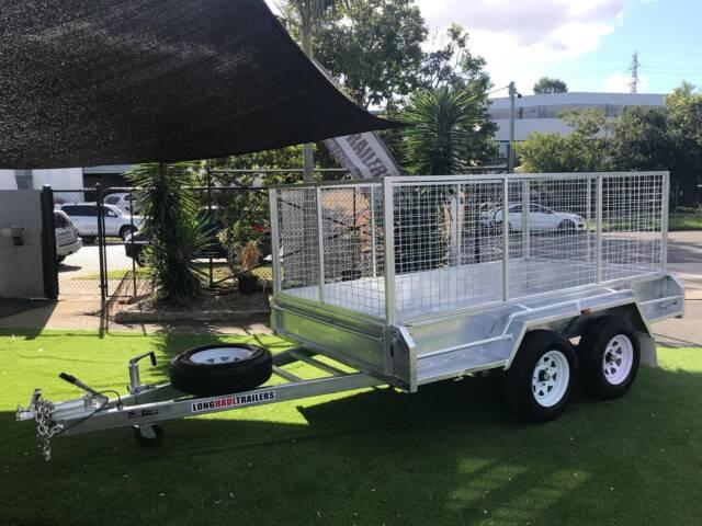 Premium tandem box trailer mm cage dual axle
