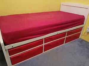 Child's single bed with storage drawers Redcliffe Belmont Area Preview
