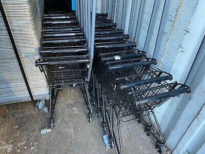Set Of 25 Grocery Store Supermarket Small Kids Metal Commercial Shopping Carts