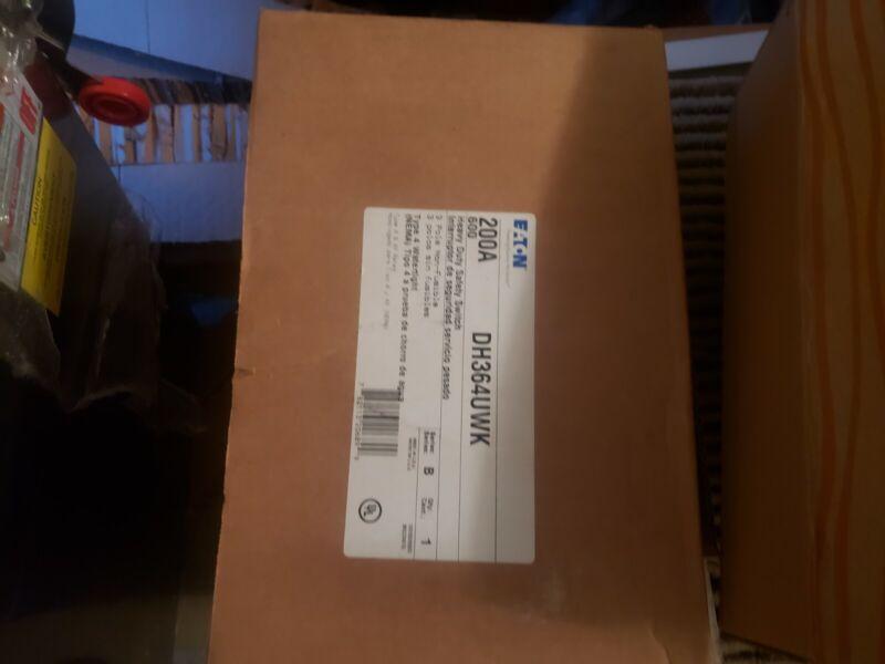 EATON DH364UWK 200 AMP 600V 3PH NON -FUSED NEMA 4 STAINLESS SAFETY SWITCH DISCO