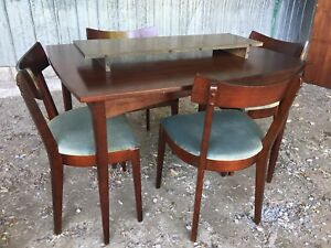 Teak Dining Table and Four Matching Chairs