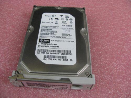 Sun 250GB Sata 7200 RPM HDD 390-0354 540-6485