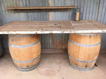 2 x wine barrels. $160 each.