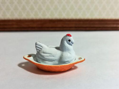 Dollhouse Miniature Chicken Brick Baking Dish 1:12 Scale Kitchen Accessory