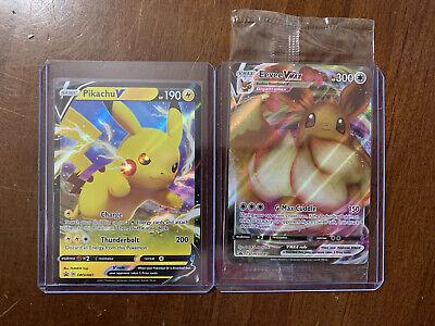Pokemon Shining Fates Evee Vmax Promo SEALED And Pikachu V Promo