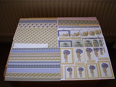 21 x A4 SHEETS CARD + 8 ENVELOPES, TO MAKE QUALITY LADIES CARDS