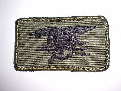 US NAVY SPECIAL WARFARE SEAL TEAM TRIDENT PATCH - BLACK