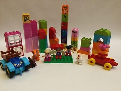 -  Lego Duplo Lot of Basic, Speciality  Bricks & Minifigures Get Them!