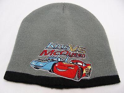 CARS - DISNEY PIXAR - KING VS MCQUEEN - BOYS SIZE - STOCKING CAP BEANIE HAT! (Mcqueen Vs King)