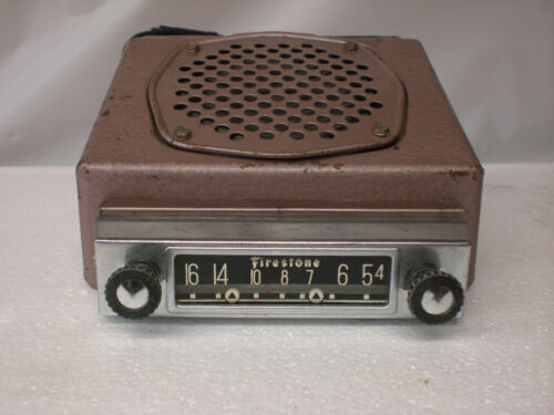 Firestone Car radio Tube Type  with civil defense CONELRAD markings 1950`s
