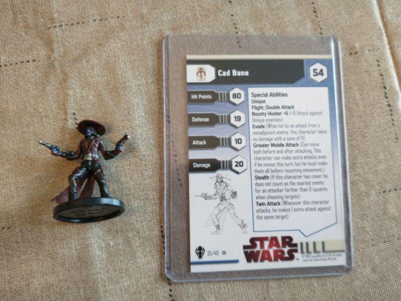 Cad Bane Star Wars Miniature: Very Rare