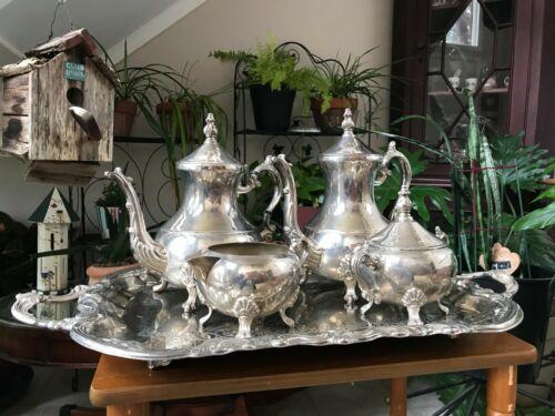 Lady Margaret - FB Rogers Silverplated 5 pc Tea Set