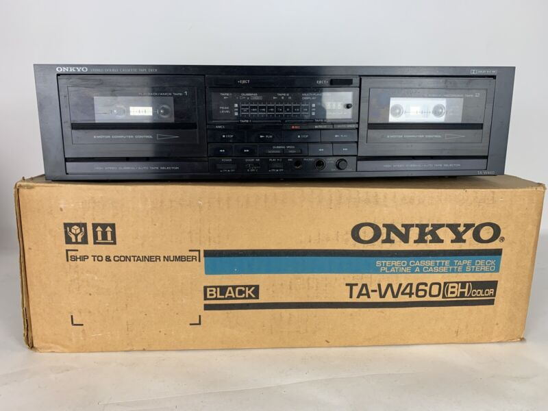 Onkyo Stereo Double Cassette Tape Deck TA-W460 Fully serviced cleaned tested