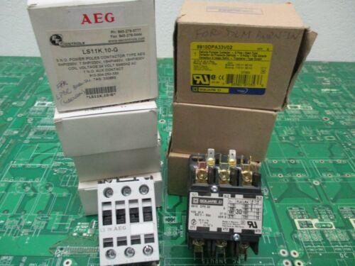 AEG Square D Contactors 8910DPA33V02 LS11K10G (Lot of 7)