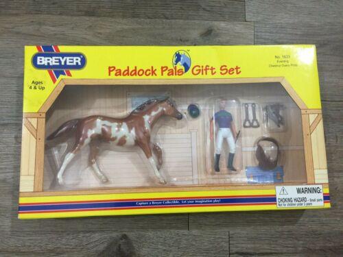 Breyer Eventing Chestnut Overo Pinto Horse Paddock Pal Gift Set Toy #1623 NIB