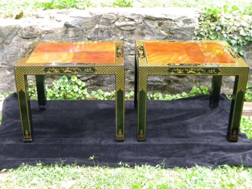 Et Cetera by Drexel; Asian inspired side tables. 1980s Chinoiserie