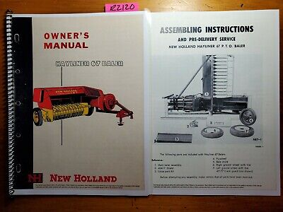 New Holland 67 Hayliner Baler Owners Operators Manual O67-1-5m 758 Assembly