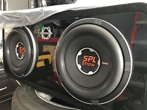 """Hertz SPL Show 10"""" subwoofers in ported box - new"""