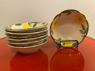 Vintage Franciscan Yellow Meadow Rose Coupe Cereal Bowl Yellow Rose Bowls