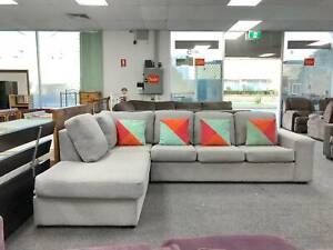 DELIVERY TODAY GREY MODERN COMFORTABLE L shape lounge