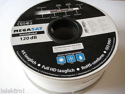 100 Meter Koaxialkabel SAT Koax Kabel 4K Full HD tauglich € 0,21 pro meter