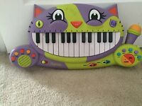 Cat piano keyboard for toddlers