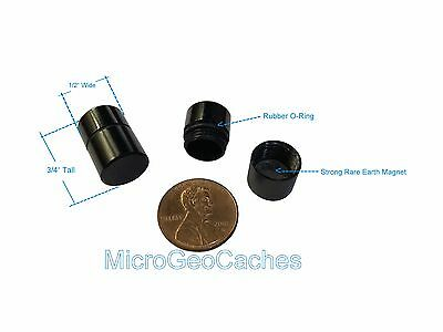 10 Small Magnetic Micro Geocache Containers Nano Bison Tube Container Geocaches