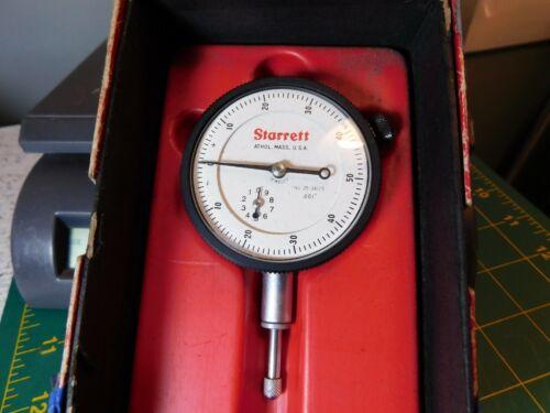 """L.S.Starrett 25-341/5 Jeweled Dial Indicator .001"""" Range .500"""""""