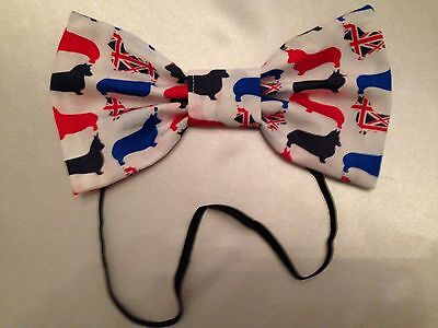 LARGE HEADBAND RED WHITE BLUE UNION JACK CORGIS 7