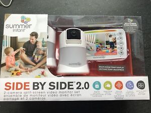 "BNIB Summer Infant Side by Side 2.0 5"" Split Video Monitor"