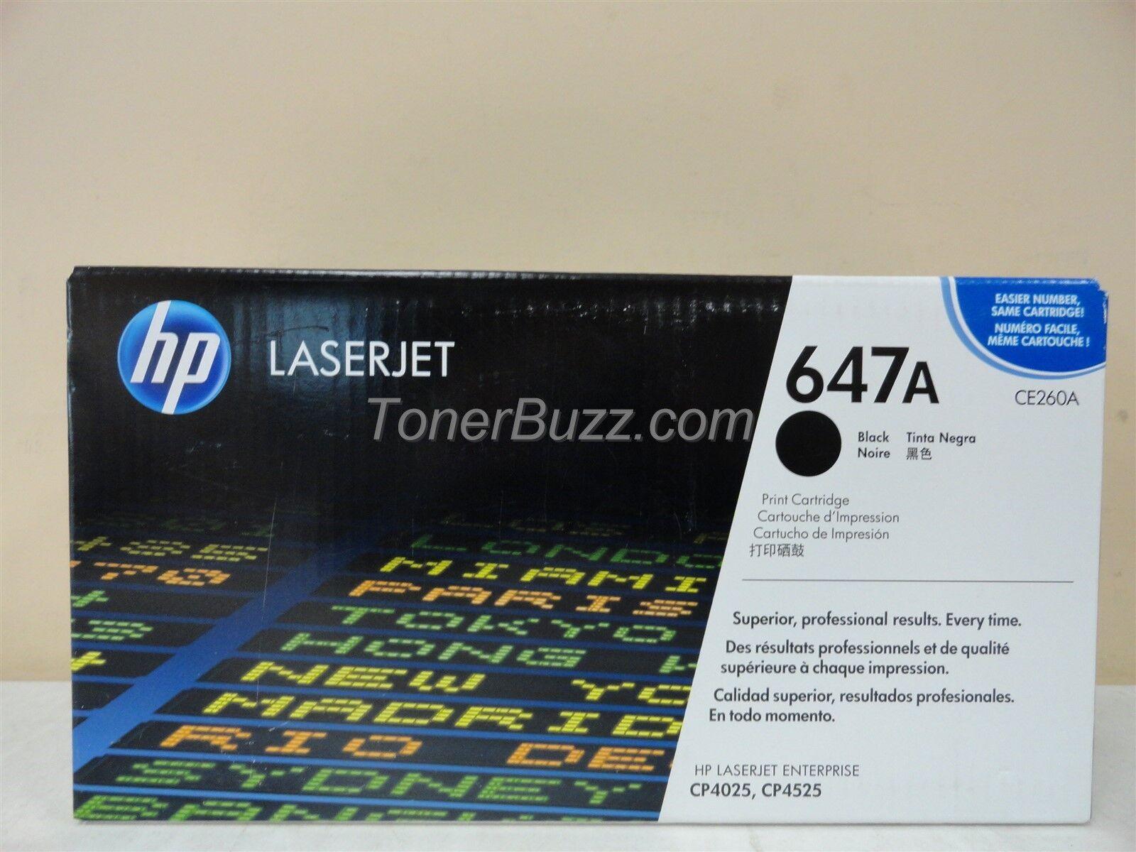 3 PK CE260A Black Toner Cartridge For HP 647A LaserJet CP4525n CP4025n CP4025dn