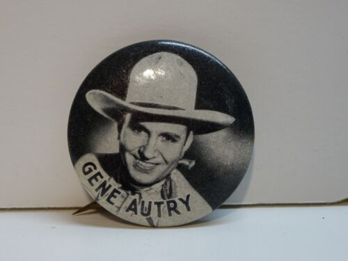 vintage GENE AUTRY Pin pinback 1950s country music cowboy