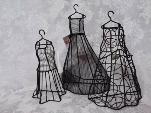 Home Interiors Black Metal Dress Forms/ Set 3/ Fashion Decor/NIB/Free shipping