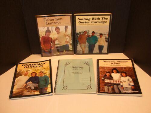 5 Phyllis Waterhouse Books for Knitting Machine G Carriage, Nursery Rhymes, ETC