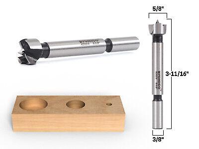 58 Diameter Steel Forstner Drill Bit - 38 Shank - Yonico 43009s